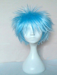 Top Quality Blue Cosplay Wig Synthetic Hair Wigs Man's Short Curly Animated Wigs Party Wigs 073A