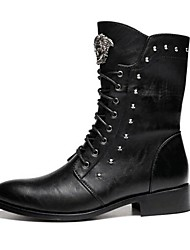 Men's Shoes Wedding / Office & Career / Party & Evening / Casual Synthetic Boots Black