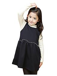 Vestido Chica de-Verano-Poliéster-Negro / Rosa