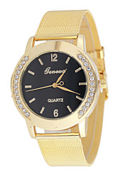 Women's Exquisite Fashion Hot Metal With Rhinestone Geneva Watches Cool Watches Unique Watches