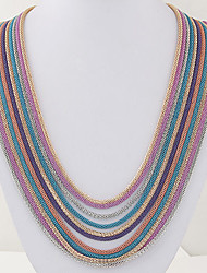 Necklace Chain Necklaces / Layered Necklaces Jewelry Party / Daily / Casual Alloy Gold / Silver / Red / Blue 1pc Gift