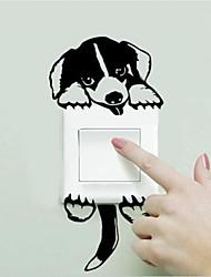 Stickers pour interrupteurs-Noir-Dessin-Animé - enPlastique