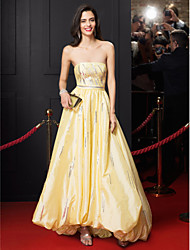 TS Couture Prom Formal Evening Dress - Celebrity Style A-line Strapless Asymmetrical Taffeta with Sequins