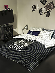 Letters duvet cover Sets 100% Cotton Bedding Set Queen/Double/Full Size