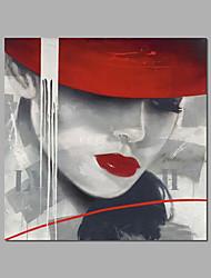 """uitgerekt (klaar te hangen) met de hand geschilderd olieverfschilderij 24 """"x24"""" canvas kunst aan de muur moderne pop art dame meisjes"""