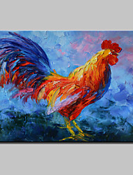 Lager Handpainted Modern Abstract Cock Animal Oil Painting On Canvas For Living Room Home Decor Whit Frame