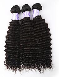 3pcs / lot 8a brasileña del pelo brasileño virginal profundo de la venta caliente del pelo virginal rizado rizado rizado tejer onda