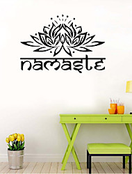 9478 Indian Namaste Words Religion Wall Decal Vinyl Lotus Yoga sticker Buddha Ganesha Home Decor Bedroom Flower Mural