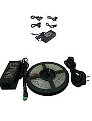5M 300x5050 SMD bande LED blanche lumière chaude et connecteur et AC110-240V à DC12V6A Transformer