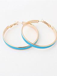 Korean Fashion Sweet Girls Candy Color Big Circle Hoop Earrings Statement Jewelry