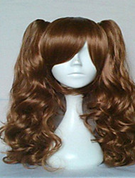 Popular Cosplay Wig Dark Brown Long Wavy Animated Synthetic Hair Wigs Cartoon Wig