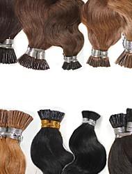 "Keratin Fusion Hair Extensions Body Wave Prebonded I Tip Human Hair 100g/lot 18""-24"" #1 #8 #613"