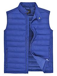 Lesmart Masculino Colarinho Chinês Sem Mangas Vest & Colete Azul / Preta - PW15137