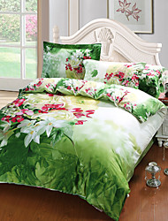 The Flower New Arrival Luxury 3D Pattern Bedding Sets Duvet Cover Sets, Queen Size