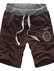 Men's Shorts,Casual Solid Cotton / Polyester K185