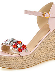 Women's Shoes Wedges Heels/Platform Sandals Office & Career/Party & Evening/Dress Blue/Pink/White