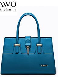 NAWO Women Cowhide Tote Blue-N153011