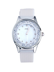 SINOBI Women's Fashion Watch Casual Watch Quartz Water Resistant / Water Proof Silicone Band White