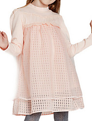 Girl's Pink Dress,Lace Cotton Spring / Fall