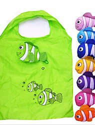 1Pcs Tropical Fish Foldable Eco Reusable Shopping Bags(Random Color)