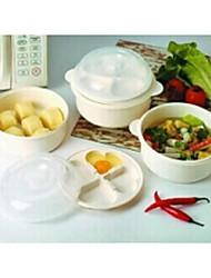 Combination Microwave Pot Three-piece,Random Color