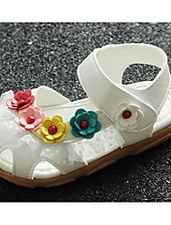 Baby Shoes-Casual-Sandali-PU-Rosa / Bianco