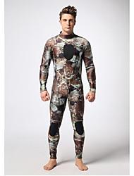 Others Men's Diving Suit Waterproof / YKK Zipper / Thermal / Warm Drysuits 3 to 3.4 mm Brown S / M / L / XL / XXL