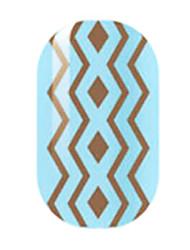 brun creux ongles autocollants