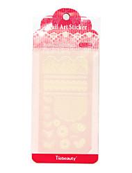 Tiebeauty Sticker PVC Flower Nail Jewelry