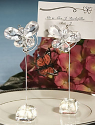 Clear crystal Butterfly Place Card Holders wedding decoration BETER-SJ015