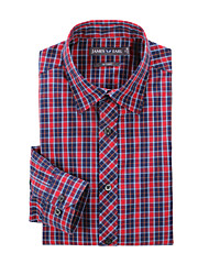 JamesEarl Herren Hemdkragen Lange Ärmel Shirt & Bluse Rot - MB1XC000301