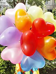 12 pulgadas corazón decoración de boda con forma de globo 100pcs / set