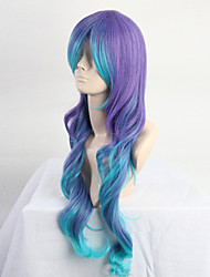 Fashion Color Cartoon Wig COS Blue Gradient