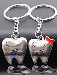 A Pair New Creative Lovely Cartoon Smile Teeth Couple Keychain Happy Couple Keychain Keyring Novelty Items