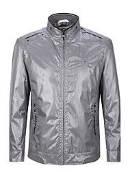 Seven Brand® Men's Stand Long Sleeve Jackets Light Gray-702K205683