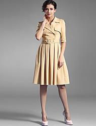 Baoyan® Femme Col en V Manches 1/2 Au dessus des genoux Robes-1508991