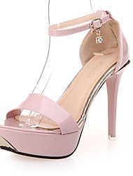 Women's Shoes Leatherette Stiletto Heel Heels Sandals Wedding / Party & Evening / Dress / Casual Pink / Purple