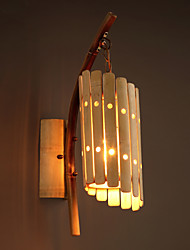 Rural-style Traditional Craft Bamboo Perforated Wall Lamps Europe Retro Art Hand-made Lights
