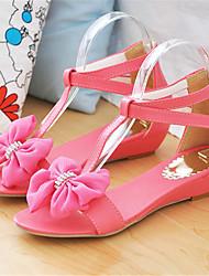 Women's Shoes Fleece / Leatherette Wedge Heel Wedges / Mary / Comfort Sandals Office & Career /  Yellow / Pink