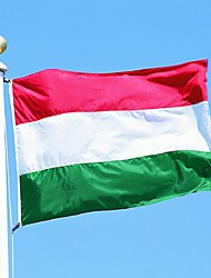 The Hungary Flag Polyester Flag 5*3 Ft 150*90 Cm High Quality You Can Add Brass Buckle