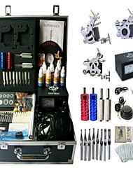 Basekey Tattoo Kit 3 Machines JHK093 Machine With Power Supply Grips Cleaning Brush Ink Needles