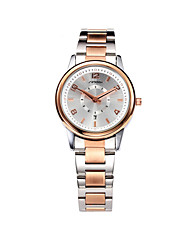 SINOBI Women's Fashion Watch Casual Watch Calendar Water Resistant / Water Proof Quartz Alloy Band Rose Gold Strap Watch