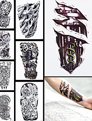 8PCS Tatoo Fake Machine Leg Dragon  Women Men Body Sleeve Back Art Temporary Waterproof Tattoo Sticker
