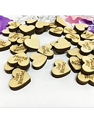Popular 50PCS Wooden Just Married Wedding Table Confetti Party Scatters DIY Crafts
