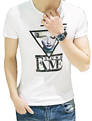 2016 summer new cotton Crewneck T-shirt male Japanese Korean t T-shirt in summer clothes's blood