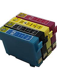 bloom®t1291-T1294 cartouche d'encre compatible pour epson stylus t26 / t27 / tx106 / tx109 / tx117 pleine encre (4 couleur de 1 jeu)