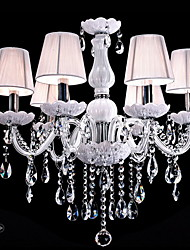 Ecolight™ 110V OR 220V 6 Lights Luxury Crystal Chandelier/White Color/K9 Crystal Chandeliers Living Room / Bedroom