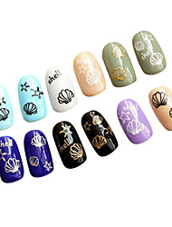 White Bell Nail Stickers