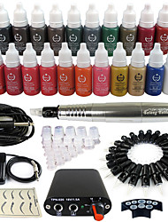 solong Tätowierung Dreh Tattoo-Maschine& Permanent Make-up Stift 50 Nadel Patronen Tintenset Stromversorgung Fußpedal ek102-6