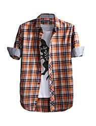 JamesEarl Herren Hemdkragen Lange Ärmel Shirt & Bluse Blau-DA202048104